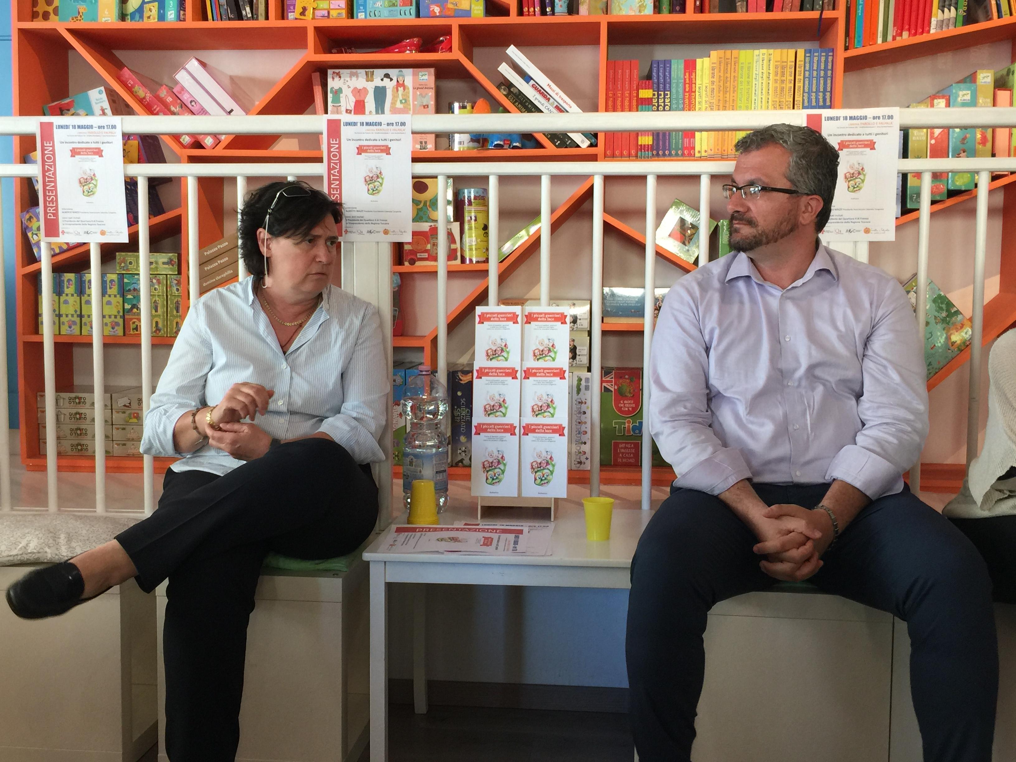 S. Saccardi (vicepresidente della Regione Toscana) e A. Mazza (Presidente dell'Ass. Cataratta congenita)